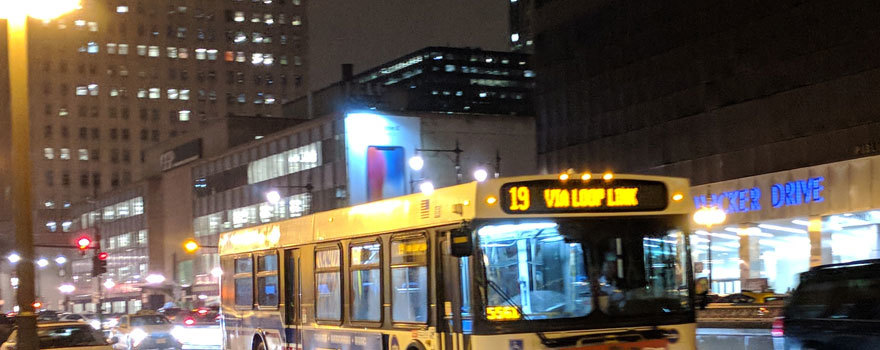 A #19 bus downtown